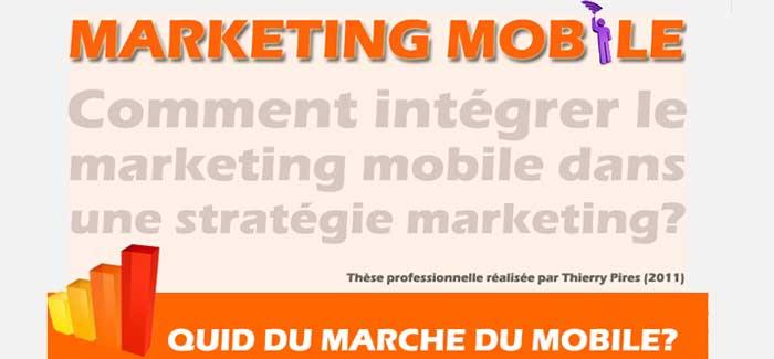 Infographie integration marketing mobile