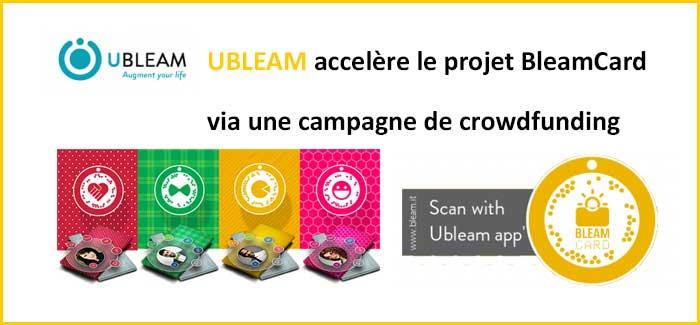 ubleam crowdfunding BleamCard