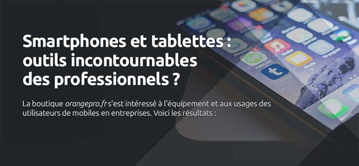 Orange Pro Smartphones et tablettes outils incontournables des professionnels